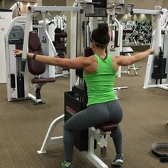 I love training rear delts- it's extremely attractive to me to have sculpted shoulders and it's absolutely necessary to have a fully developed shoulder. I love doing the rear pec deck machine at the end of my shoulder workout and I try to complete 50-75 reps on my rear delts, never using weight that allows me to complete more than 15 reps at a time.  -