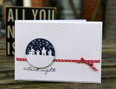 Independent UK Stampin' Up!® Demonstrator seller of paper craft supplies shares tips and ideas : Stampin' Up! Sleigh Ride Edgelits for simple Christmas cards Christmas Cards 2017, Simple Christmas Cards, Homemade Christmas Cards, Noel Christmas, Christmas Gift Tags, Xmas Cards, Holiday Cards, Minimal Christmas, Natural Christmas