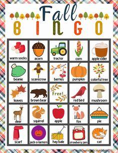 Bingo Games For Kids, Printable Bingo Games, Free Bingo Cards, Free Printables, Anker Tattoo Frau, Bingo Sheets, Halloween Bingo, Thanksgiving Games For Kids, Fall Games