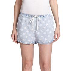 Rails Finley Denim Drawstring Shorts ($108) ❤ liked on Polyvore