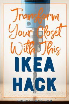 How to use some crown molding and baseboard trim to make Ikea PAX look like custom cabinetry. You won't believe the transformation! Ikea Closet Hack, Ikea Closet Organizer, Ikea Wardrobe, Closet Storage, Closet Redo, Wardrobe Storage, Bedroom Wardrobe, Closet Organization, Organizing