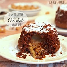 Chocolate Peanut Butter Lava Cakes are easy, decadent, indulgent, and delicious. Best dessert ever! Like a big peanut butter cup :)