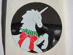Vintage Hambly Mylar Foil Unicorn Sticker