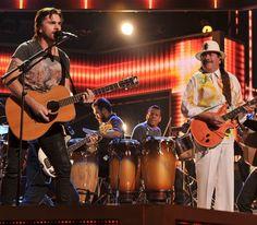 Juanes and Santana