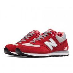 promo code de9be 2ffc3 New Balance 574 Hombre Rojo con Gris Mens New Balance 574, Classic  Sneakers, Sneakers