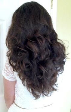 sock bun curls!