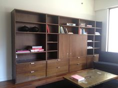Modern, Walnut, Media Cabinet / Bookcase in Hudson Square, Manhattan ~ Apartment Therapy Classifieds