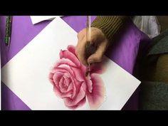 (19) Otra Rosa con Acrilico en Pintura Decorativa - YouTube