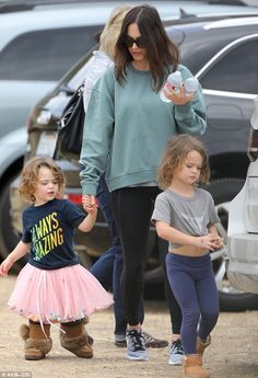 Megan Fox took her son out while he was wearing a skirt. This is an example of young children defying gender roles.