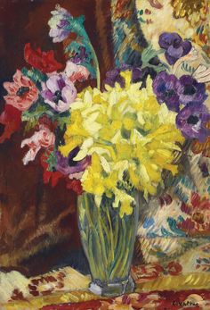 Vase with Anemones and Narcissus, 1931. Louis Valtat