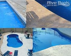 Considering choosing a concrete pool deck for your inground pool? Here are the pros and cons of selecting a concrete pool patio! Stamped Concrete Cost, Stamped Concrete Patterns, Concrete Deck, Semi Inground Pools, Inground Pool Designs, Fiberglass Swimming Pools, Deck Cost, Decking Material, Pool Installation