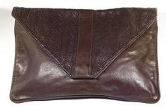 Vintage 1980's brown enveloppe bag by Preppytrendy on Etsy
