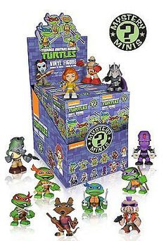 Bring the Teenage Mutant Ninja Turtles to your office or TV room with a totally tubular Teenage Mutant Ninja Turtles Mystery Mini figure! Stands 2 1/2 Inch tall. Which character will you get? Could be Leonardo, Raphael, Donatello, Michelangelo, April O'Neil, Shredder, Bebop, Rocksteady, Foot Soldier, Krang, or Casey Jones! There is a 1-12 chance of receiving any one of the figures pictured above! Ages 3 and up.