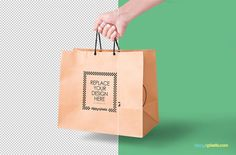 free paper bag psd with customizable design