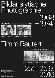 """build-built-built: """"arc / timm rautert. bildanalytische photographie 1968-1974 / Exhibition / Poster / 2016 """""""