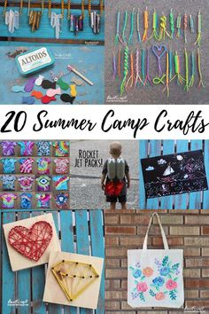 20 Summer Camp Crafts for Kids Teens or Grown Ups! 20 Summer Camp Crafts for Kids Teens or Grown Ups!,Doodlecraft Crafts and DIY! Summer camps are all about crafting, these 20 craft ideas are. Summer Camp Art, Summer Camp Activities, Summer Camp Crafts, Summer Camps For Kids, Art Camp, Summer Camp Themes, Spring Crafts, Family Activities, Camp Carnival