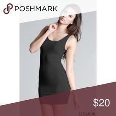 🌟Charcoal Plain Jersey Tank Dress #5178-CH Nikibiki plain jersey tank dress. Signature tank top in a dress. One size fits most. 92% Nylon, 8% Spandex. Very stretchy material. NikiBiki Dresses