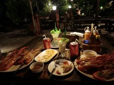 perfect food a perfect night in Koh Samet