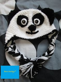 Adult/Baby Panda Hat Pattern by Dan's Crochet