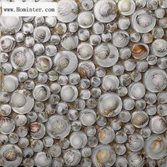 Glass Mosaic Resin Conch Tiles Backsplash Penny Round Chips Bathroom Tile Walls and Floors GRC619