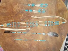 Native American inspired design - Choker, Earrings, Hairpiece and bracelet set Native American Seed, Native American Crafts, Native American Beadwork, Native American Jewelry, American Indians, Bead Loom Bracelets, Bracelet Set, Beaded Earrings, Beaded Jewelry
