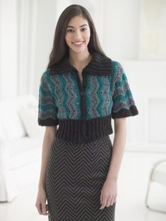 Ripple Bolero - free Lion Brand crochet pattern