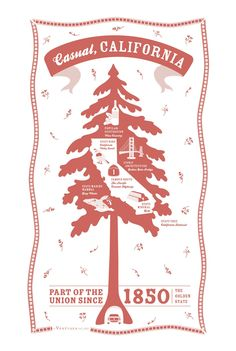 CALIFORNIA STATE KITCHEN TEA TOWEL
