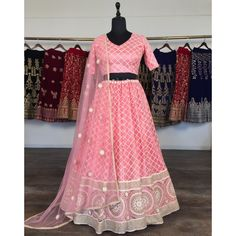 Peach net heavy lucknowi work wedding lehenga choli