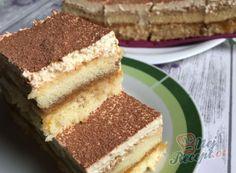 Recepty na najlepší dezerty a moučníky | NejRecept.cz Sweet Cakes, Vanilla Cake, Tiramisu, Food And Drink, Sweets, Baking, Rum, Ethnic Recipes, Cook