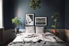 Moody Blue Bedroom Inspiration / My Scandinavian Home Bedroom Inspirations, Home Bedroom, Bedroom Design, Interior, Bedroom Decor, Dark Bedroom, Dark Bedroom Walls, Home Decor, Remodel Bedroom