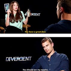 Flattery gets you everywhere with Theo James