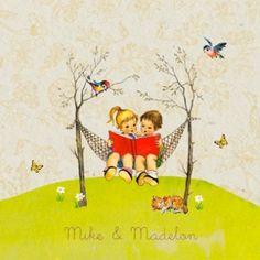 Kaartje Mike en Madelon door Snoesjes