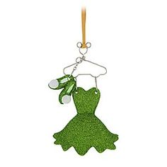 Tinker Bell Costume Ornament | Disney Store We wish you a fairy Christmas with this Tinker Bell Costume Ornament. Tink's signature green dress and shoes make a glittering addition to your holiday decorations, and come on a metal Mickey hanger to dress your tree in style.