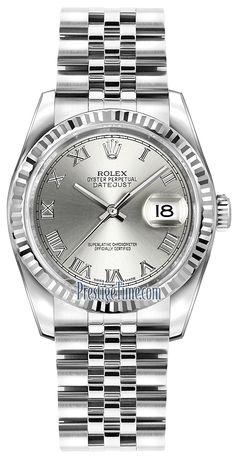 Rolex Datejust 36mm Stainless Steel 116234 Rhodium Roman Jubilee