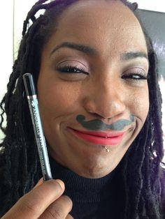 contribution using Annabelle Black eye pencil Movember, Moustache, Anna, Pencil, Eyes, Black, Mustache, Black People, Moustaches