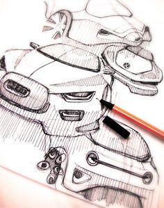 Sketch Bug by Roshan Hakkim, via Behance