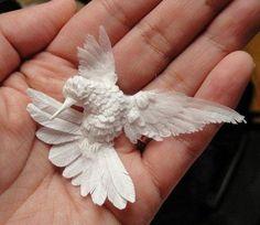 A Hummingbird Made Of Paper