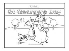 This St. George's Day spot the difference activity will