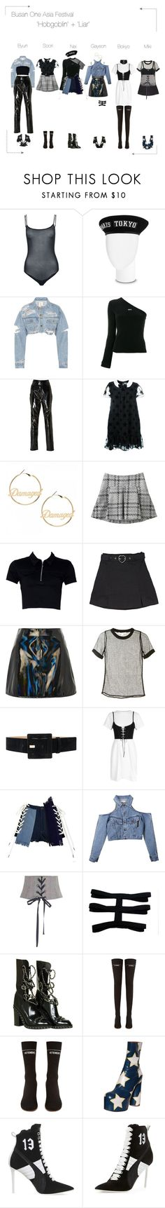 """""""Lunar (루나) Busan One Asia Festival"""" by lunar-official ❤ liked on Polyvore featuring Wolford, Off-White, Zeynep Arçay, Yves Saint Laurent, Topshop, Jonathan Simkhai, Alice + Olivia, Erika Cavallini Semi-Couture, Chanel and Vetements"""