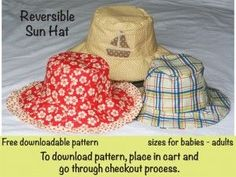 Free sun hat pattern for kids and adults! #diysunhat