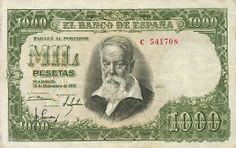 Spain Currency Exchange Obsolete Money From Old Spanish Peseta Banknotes Esp