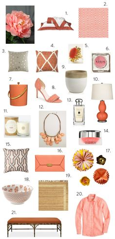 Elements of Style Blog | Color Theory: Coral Peony | http://www.elementsofstyleblog.com
