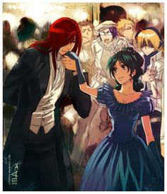 D. gray man Cross and  Lenalee