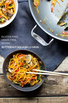 Butternut Squash Lo Mein (Gluten-free, Grain-free, Vegan) + an ALL CLAD Giveaway! — Food by Mars