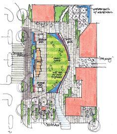 PLAID collaborative - WPkwy Landscape Design Plans, Landscape Concept, Urban Landscape, Amazing Architecture, Landscape Architecture, Architecture Design, Drawing Sites, Urban Design Plan, Plan Sketch