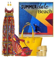 """MAXI BEACH by DaNewMeh"" by thchosn ❤ liked on Polyvore featuring Hermès, Dolce&Gabbana, Michael Kors, Oscar de la Renta, Hervé Van Der Straeten, beach and summerdate"