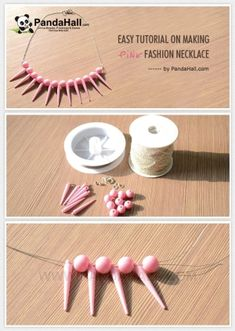 Easy Tutorial on Making Pink Fashion Necklace | easy crafts by wanting