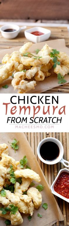 Homemade Chicken Tempura Recipe: Any fried food is comfort food, but there's something special about super-crispy chicken tempura. These are my tricks to getting it right! | macheesmo.com