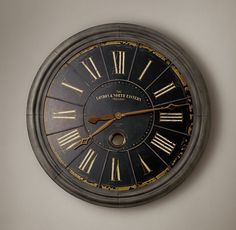 London Rail Clock--Restoration Hardware