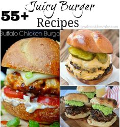Grill up some deliciousness this summer! This is a collection of over 50 mouthwatering burger recipes that will have you running to your grill!